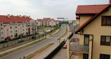 Kolejny cel – bloki przy Al. Warszawskiej (odległość ok 3600m)